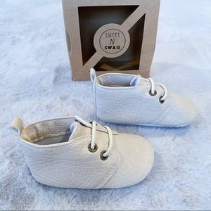 Sweet N Swag Shoes - Sweet N Swag Baby Moxford Moccasins Ivory Oxford 3